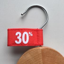 Kledinghanger label vaantje rood -30%- 10 stuks Td04006030W