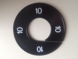 Maatring 9 cm zw/wit 10 Td05602010