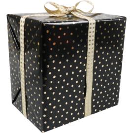 Cadeaupapier zwart-goud 50cm 200m Tpk342025