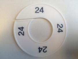 Maatring 9 cm wit/zw 24 Td05601024