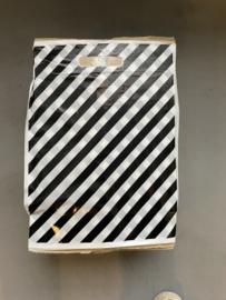 Draagtas zwart-streep 35my 30x37cm 1000st Tpk273702