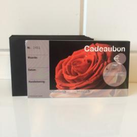 Cadeaubon bedrukt met rozen 50st Td21130017