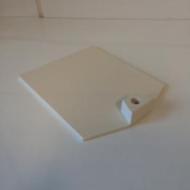 Voetplaat kunststof zwaar wit Td12021201