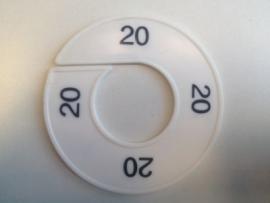 Maatring 9 cm wit/zw 20 Td05601020