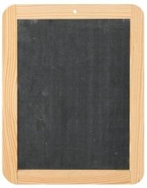 Krijtbordje met houten rand 22x30cm Td12960088