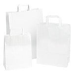 Papieren draagtas wit 26x17x25cm Tpk270302