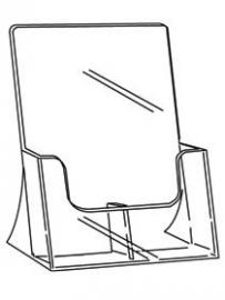 Folderbak staand 2-vaks 1/3 A4 Td99160062