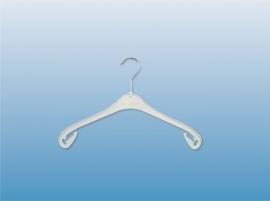 Kunststof kledinghanger wit 38cm 400st NA38W