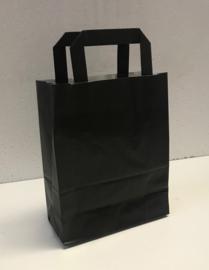 Draagtas zwart papier 18x8x22cm 250st Tpk270444