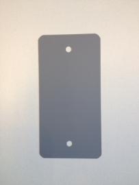 PVC-labels 54x108mm grijs 2 gaten 1000st. Td35987112