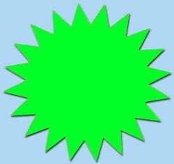 Ster fluor groen 7cm 50st. Tfr07017S