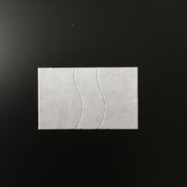 Etiket 26x16 rechthoek wit perm antidiefstalstanzing Td27173002