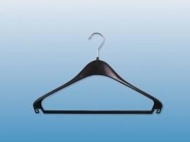 Kunststof kledinghanger zwart 44cm F44L