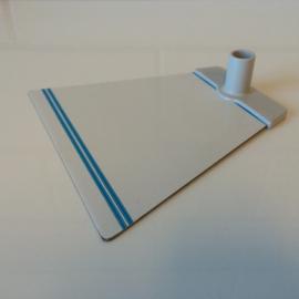 Voetplaat metaal trapezium grijs voor NT buis Td12021502
