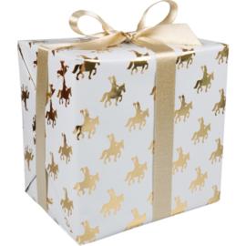 Cadeaupapier Sint wit/goud 30cm 200m Tpk767033