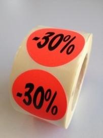 Etiket Ø35mm fluor rood 30% 500/rol Td27511730