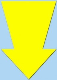 Pijl fluor geel 15cm 50st. Tfr15016P