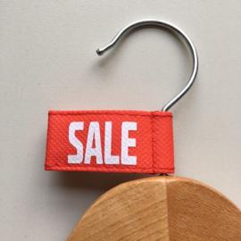 Kledinghanger label vaantje rood -SALE- 10 stuks Td04006005W
