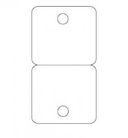 Bijoux-kaartje type 16 - bxh 60x110 mm Td15450016