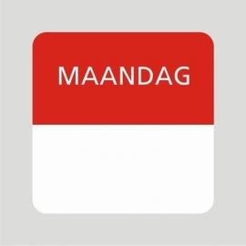 Etiket maandag wit/rood 25x25mm 500stuks Td27510001