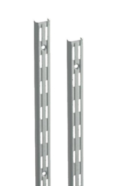 Wandrail ral 9006 dubbele perforatie 150cm Tms10001-00023