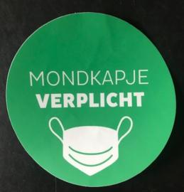 Mondkapje Verplicht sticker Ø15cm Trg15001