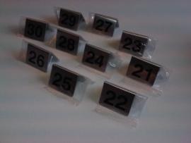 Bordje/tafelnummers RVS set 21-30 Td14243612