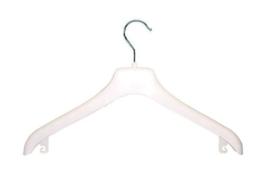 Kunststof kledinghanger wit 125st. NF-44