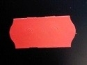 Etiket 26x12 golfrand fluor rood afneembaar 2-slit Td27113114