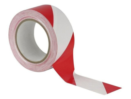 Afzetlint PE 50mm 100m wit/rood Tpk557108