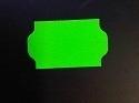 Etiket 32x19 golfrand fluor groen perm Td27213017