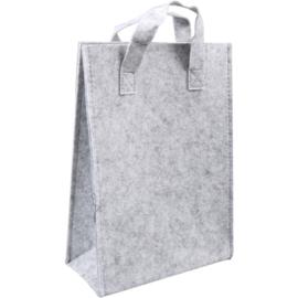 Draagtas vilt grijs 23x10x33cm Tpk270727