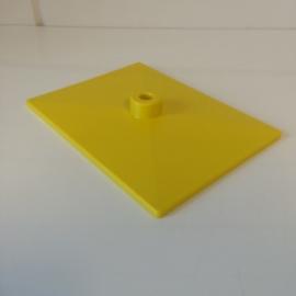 Voetplaat kunststof geel Td12021103
