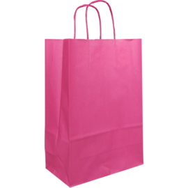 Draagtas papier roze 22/10x31cm Tpk270621