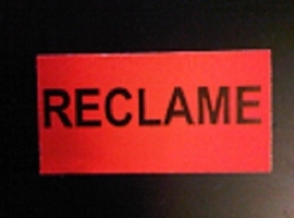 Etiket 37x19 fluor rood RECLAME Td27283092