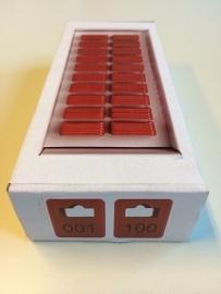 Garderobenummers rood genummerd Td35990019