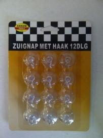 Zuignap Ø 22mm met haak 12st Td13030065