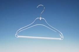 Transparante kledinghanger met broeklat 350st. STB1