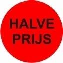 Etiket fluor rood 35mm Halve Prijs 500per rol Td27513241