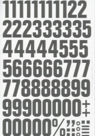 Magnetische cijfers 43mm wit/zwart Td13049104