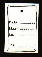 Hangetiket 60x40mm bedrukt geen perf Td27924605