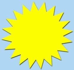 Ster fluor geel 7cm 50st. Tfr07016S