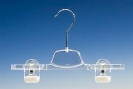 Transparante hanger met 2 klemmen KL1-22/28L