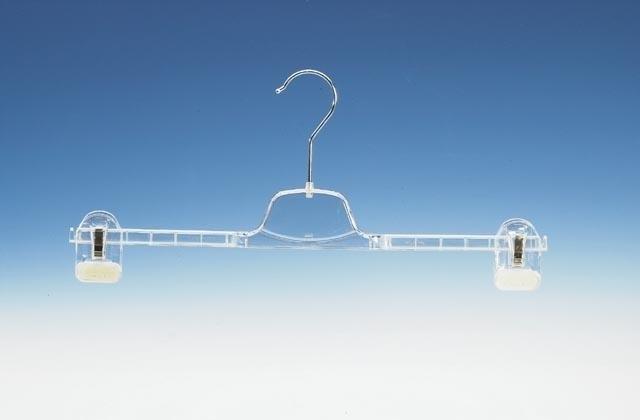 Transparante hanger met 2 klemmen 200st KL1-36/40