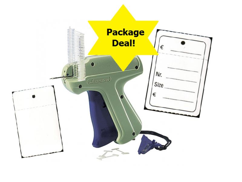 Package deal textieltang, riddersporen, bedrukte etiketten en naalden Tpd012017B