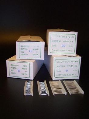 Nylon textielpins 35mm standaard 5000st Td30310035