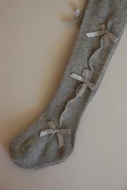 Babymaillot met 3 strikjes - grijs