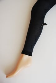 Legging met ingeweven ruit & strikje - antracietgrijs