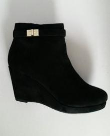 Dameslaarzen, zwart met sleehak