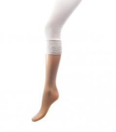 capri legging wit met breed gesmokt boord